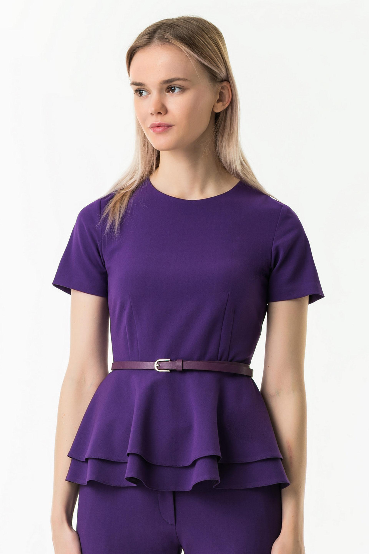 Блузка по низу с двойной баской
