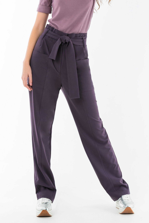 Свободные брюки с поясом