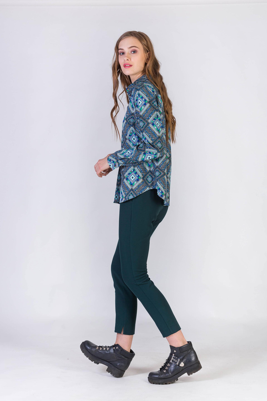 Блузка с длинным втачным рукавом